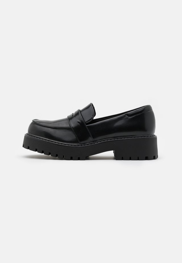 VEGAN JUNE LOAFER - Mocasines - black dark