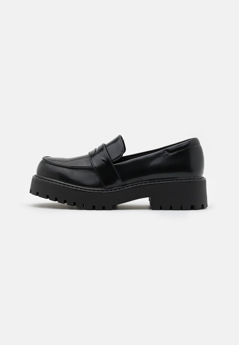 Monki - VEGAN JUNE LOAFER - Loaferit/pistokkaat - black dark