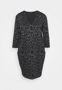 Wallis - PEBBLE DRESS - Sukienka z dżerseju - grey/black - 0