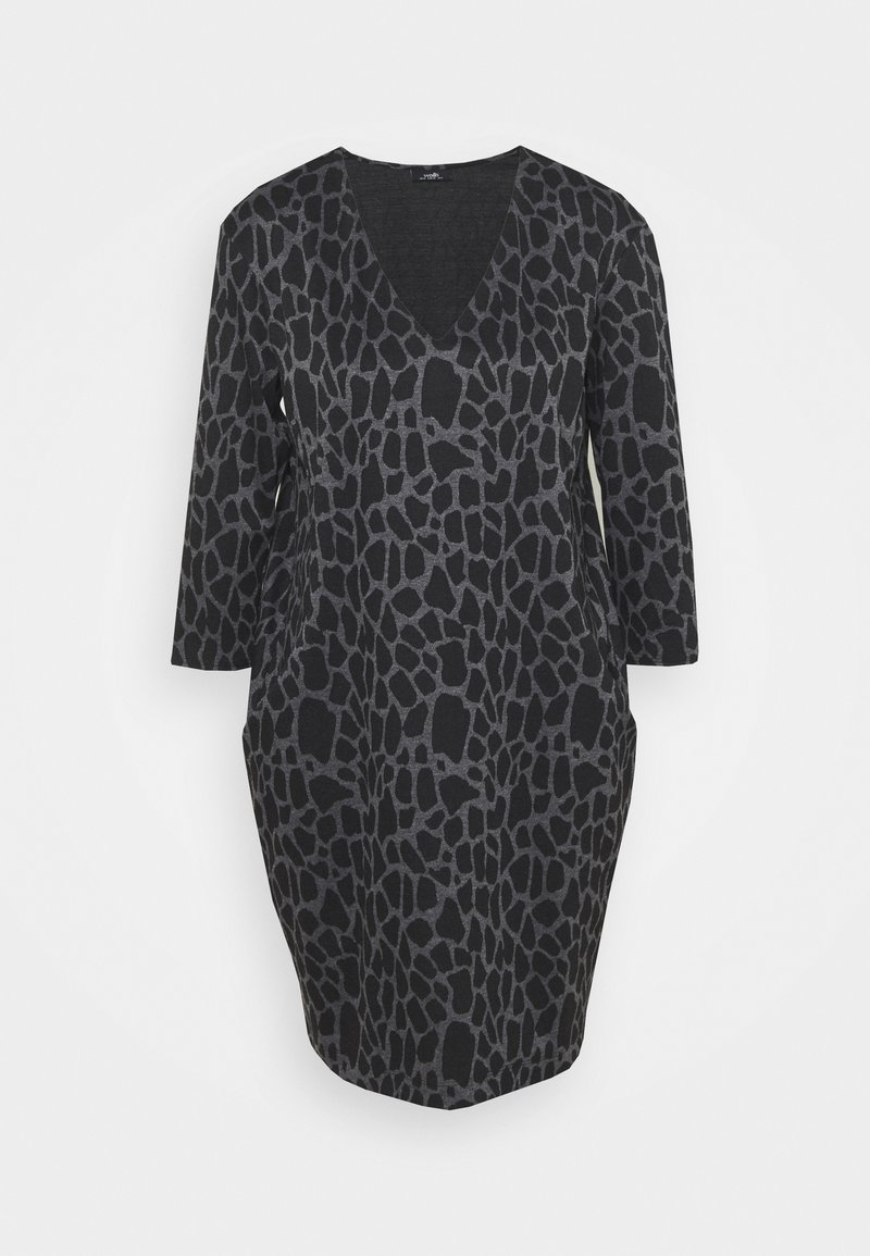 Wallis - PEBBLE DRESS - Sukienka z dżerseju - grey/black