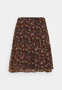 Scotch & Soda - SHORTER LENGTH PRINTED SKIRT - A-line skirt - metallic red - 1