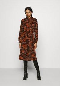 ONLY - ONLNOVA LUX SMOCK BELOW KNEE DRESS - Day dress - black - 0