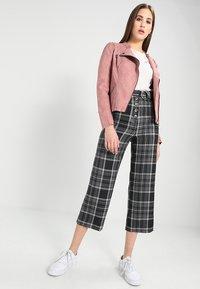 ONLY - ONLAVA BIKER  - Faux leather jacket - ash rose - 1
