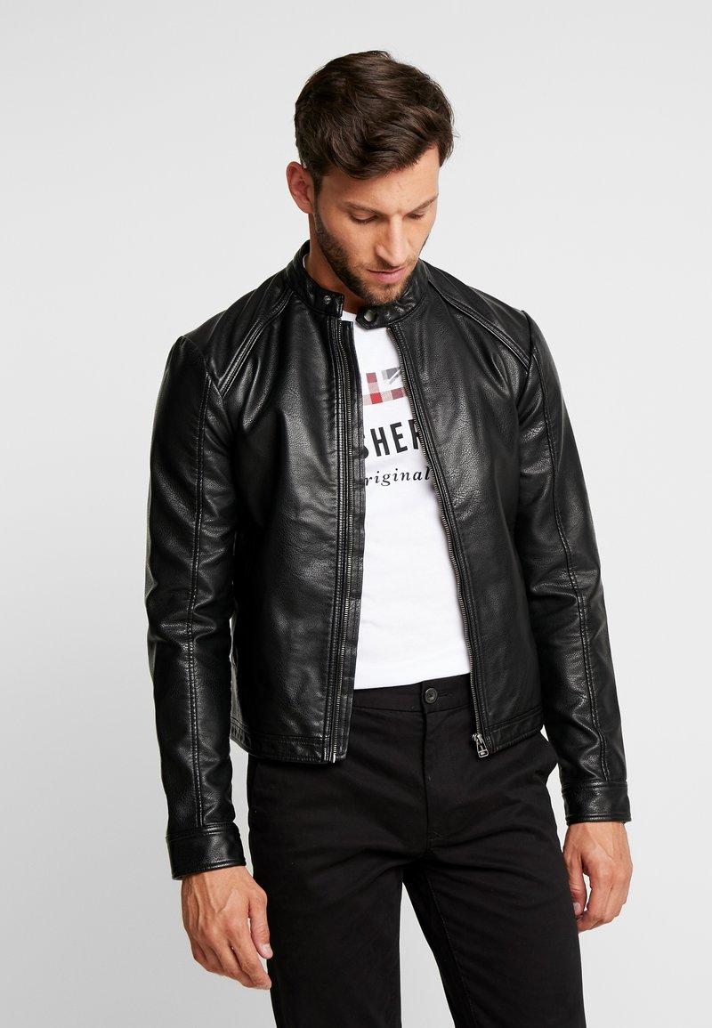 Produkt - PKTDLN DYLAN BIKER JACKET - Faux leather jacket - black