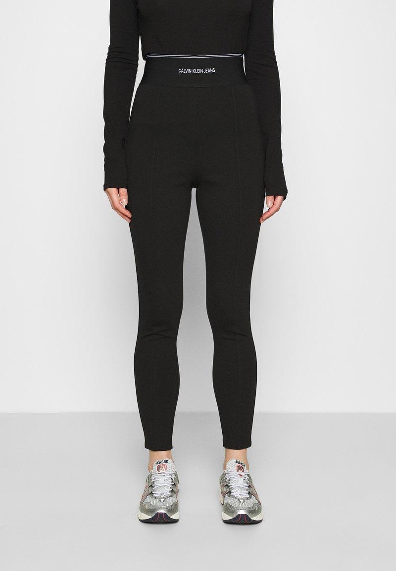 Calvin Klein Jeans - MILANO LOGO ELASTIC - Legging - black