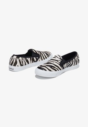 Slip-ons - black and white zebra