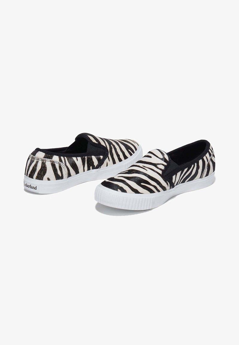 Timberland - Slip-ons - black and white zebra