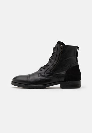 BRAVIN - Lace-up ankle boots - black