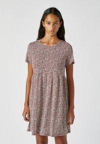 PULL&BEAR - Denní šaty - red - 0