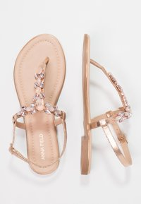 Anna Field - T-bar sandals - rose gold - 2