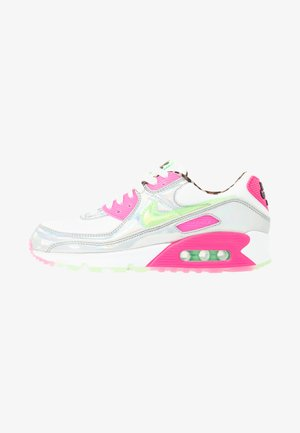 AIR MAX 90 - Sneaker low - white/illusion green/laser fuchsia/black