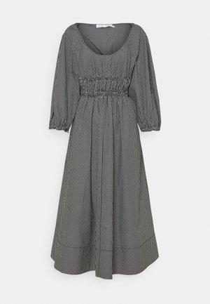 YARN DYE PLAID DRESS - Day dress - black/white