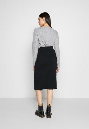 WRAP SKIRT TALL - Pencil skirt - black