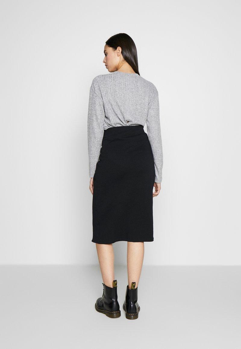 Noisy May Tall - WRAP SKIRT TALL - Pencil skirt - black