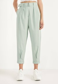 Bershka - SLOUCHY - Trousers - turquoise - 0
