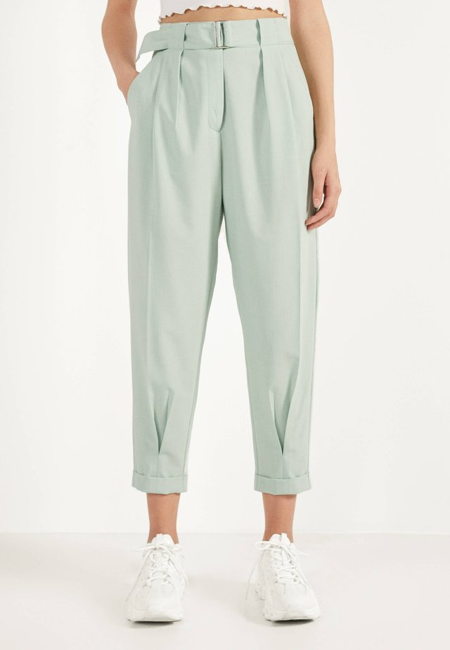 SLOUCHY - Broek - turquoise