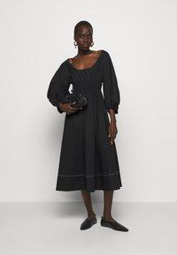 Proenza Schouler White Label - FULL SLEEVE DRESS - Vestido informal - black - 1