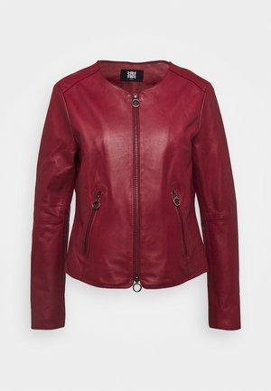 Leather jacket - amarena