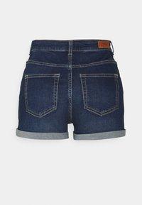 ONLY Tall - ONLHUSH BUTTON TALL - Denim shorts - dark blue denim - 1