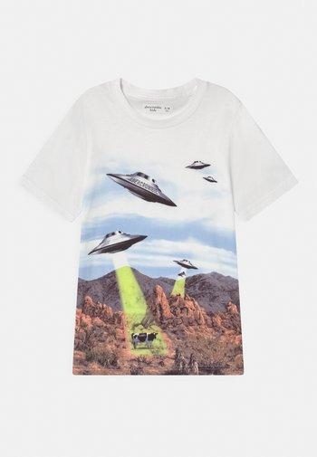 WESTERN IMAGERY PRINT LOGO - Print T-shirt - blue