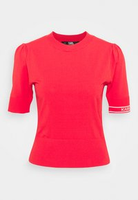 KARL LAGERFELD - PUFF LOGO - Print T-shirt - tangerine - 6