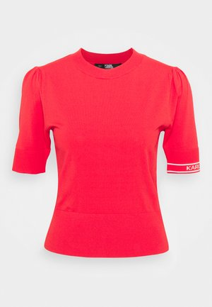PUFF LOGO - T-Shirt print - tangerine