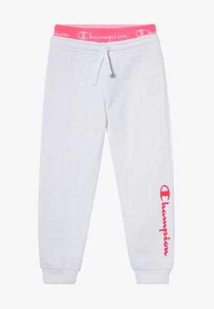 LEGACY AMERICAN CLASSICS FLUO RIB CUFF  - Tracksuit bottoms - white