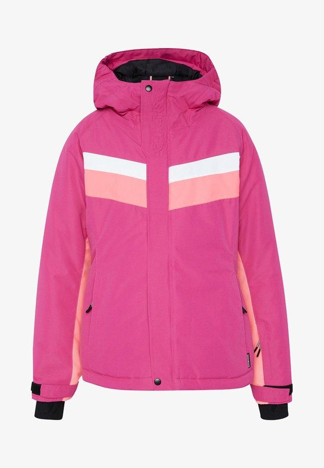 MIT KONTRASTSTREIFEN - Ski jacket - magenta