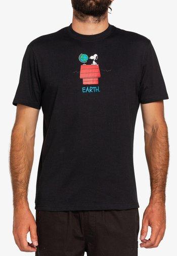 PEANUTS - Print T-shirt - flint black