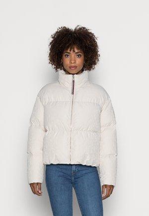 JACQUARD PUFFER - Down jacket - textured jacquard ecru