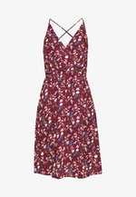 VITULLE SHORT DRESS - Day dress - winetasting/blue/rose