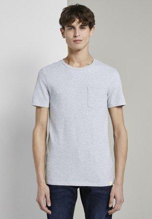 T-shirts basic - light stone grey melange