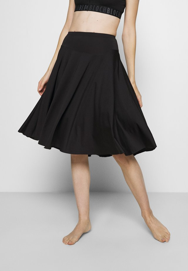 CIRCLE SKIRT - Gonna sportivo - black