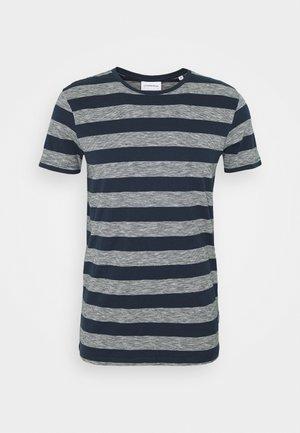 STRIPED TEE - Print T-shirt - navy