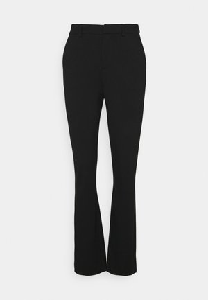 ONLELORAVIKA FLARE PANT - Spodnie materiałowe - black