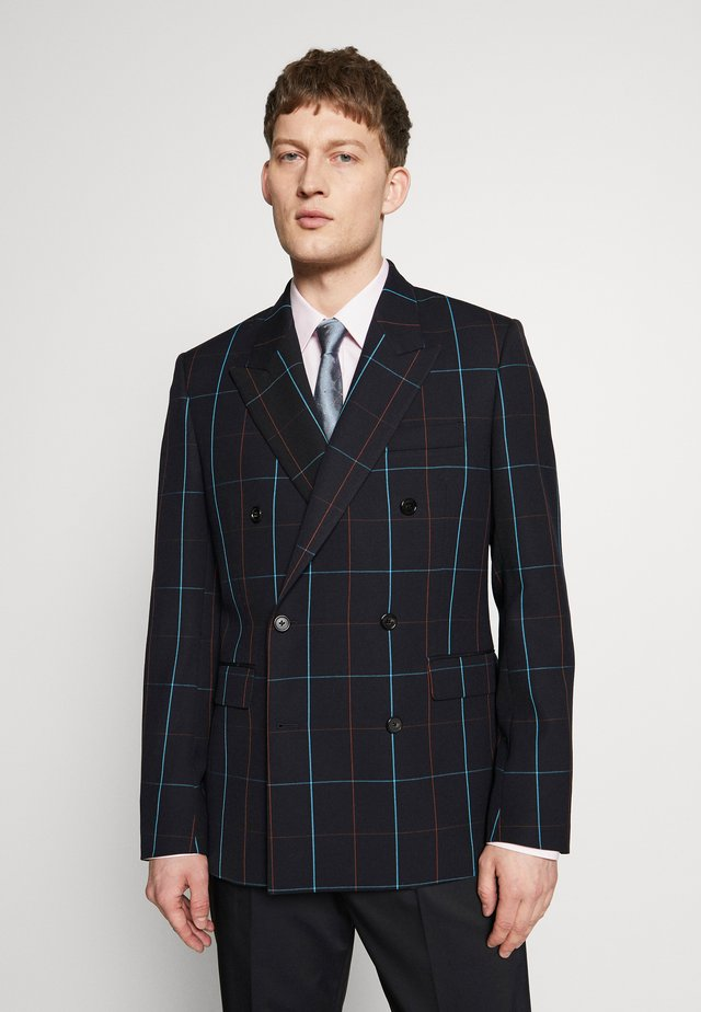 GENTS JACKET CHECKED - Suit jacket - dark blue