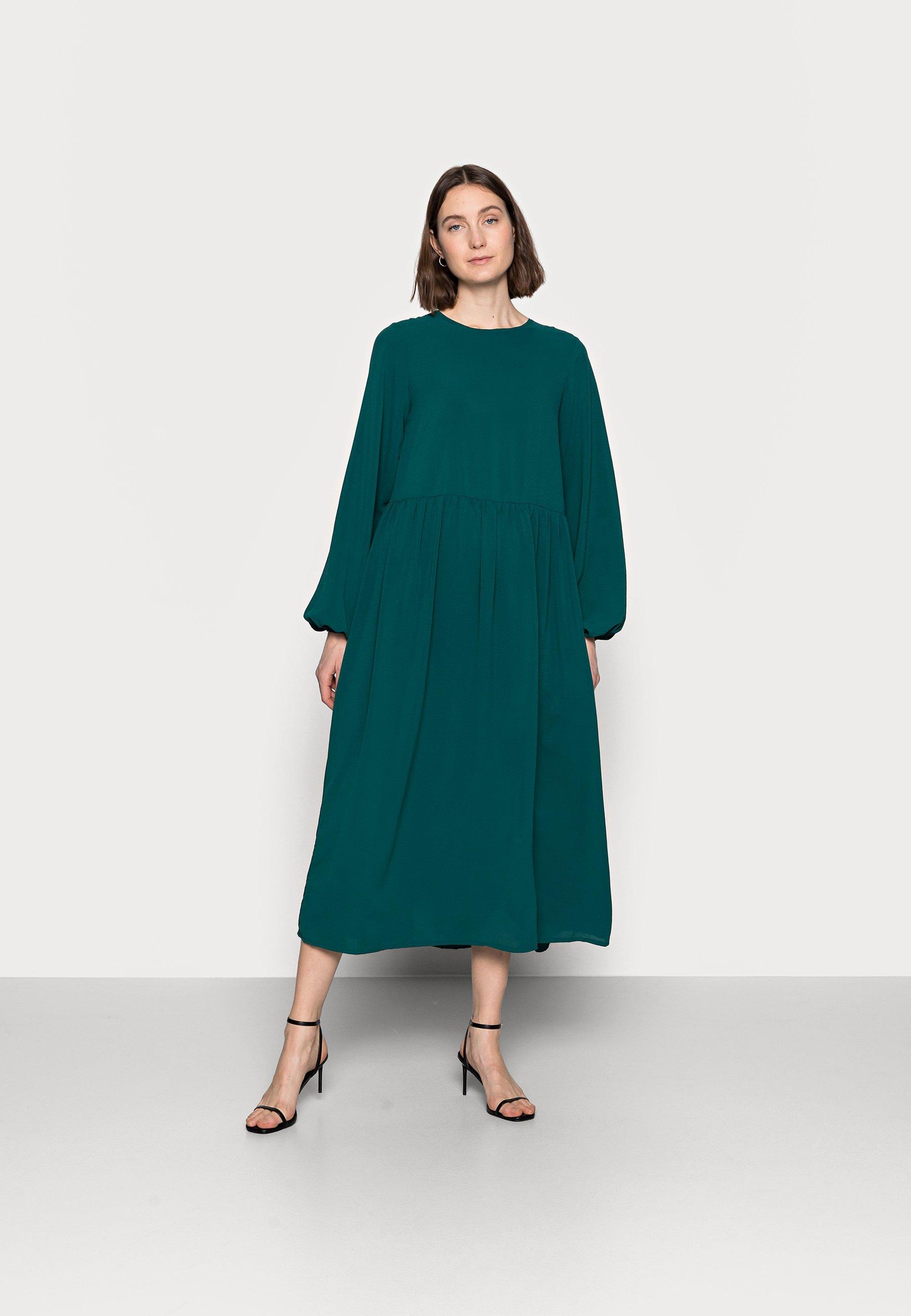 Women OVERSIZED MIDI SMOCK DRESS - Day dress
