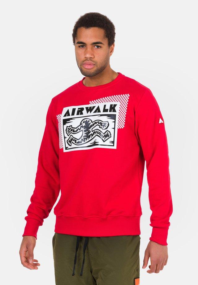 MIT AUFDRUCK - Sweatshirt - silber