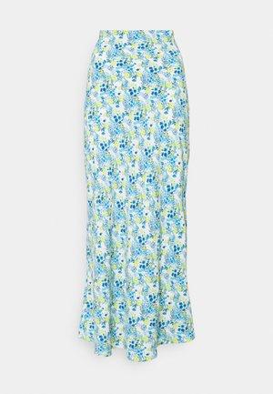 SKIRT - Maxi sukně - blue/yellow