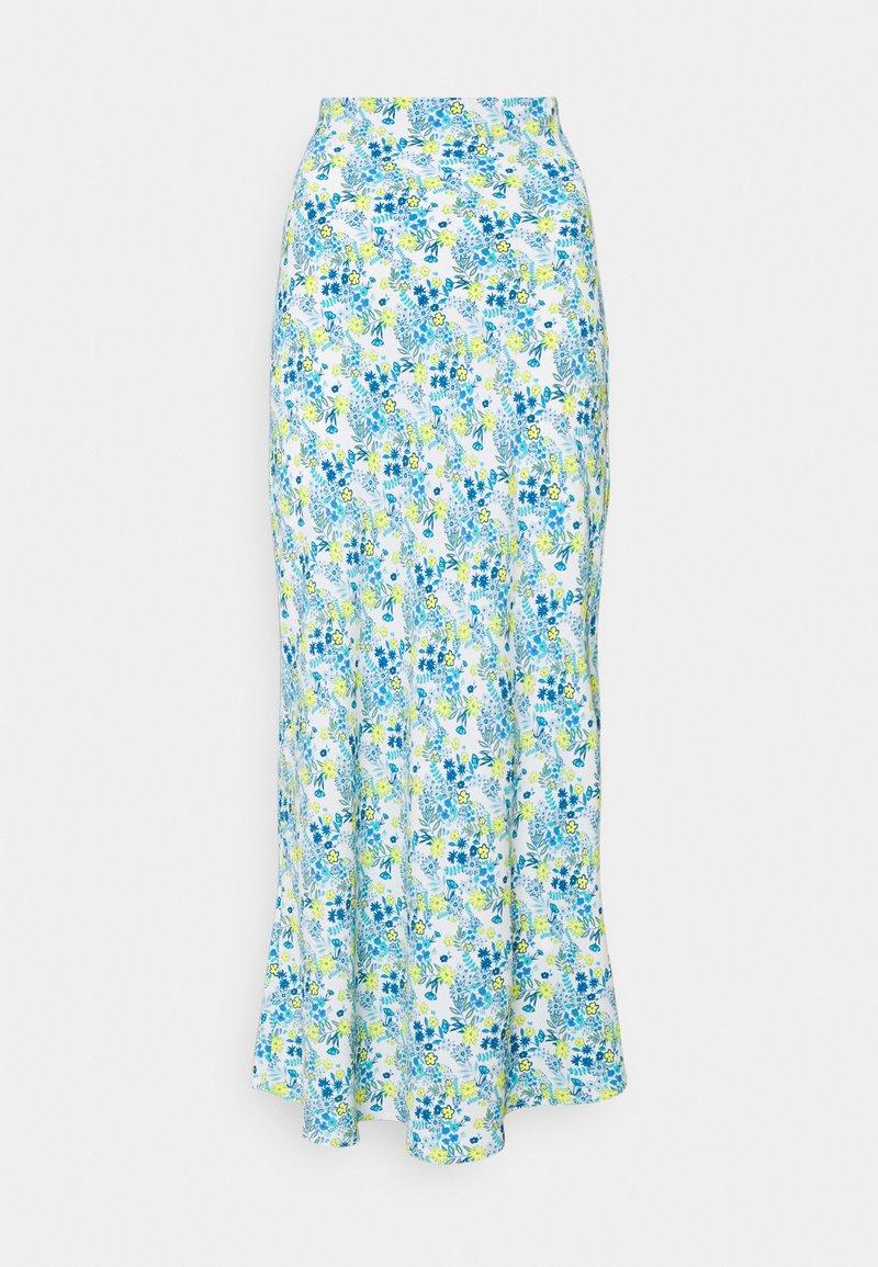 Glamorous Tall - SKIRT - Maxi sukně - blue/yellow