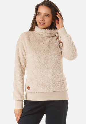 MENNY - Fleece jumper - beige