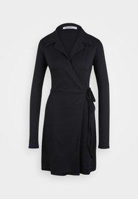 Glamorous Tall - COLLARED WRAP MINI DRESS - Vardagsklänning - navy - 0