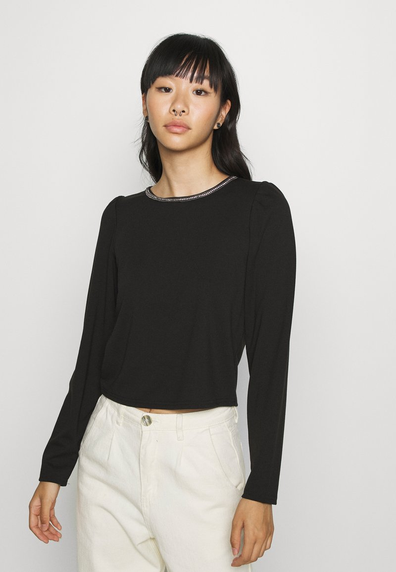 ONLY - ONLBRILLIANT CHAIN - Long sleeved top - black