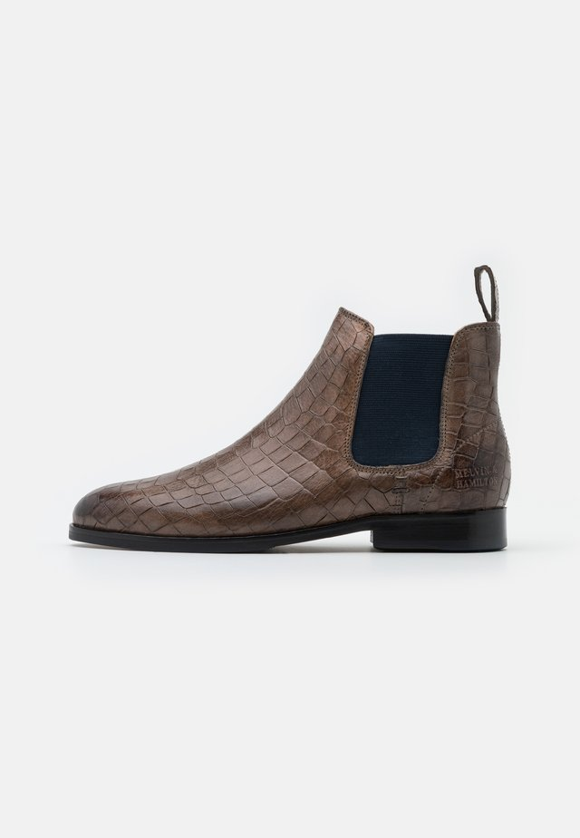 SUSAN  - Ankle boots - stone/navy/beige