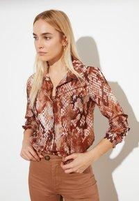 Trendyol - Button-down blouse - brown - 2