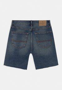 Abercrombie & Fitch - Jeans Short / cowboy shorts - dark blue - 1
