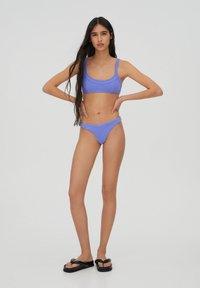 PULL&BEAR - Bikini top - mottled dark purple - 1