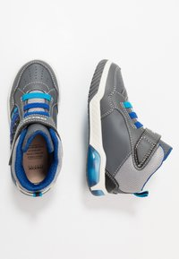 Geox - INEK BOY - High-top trainers - grey/royal - 1