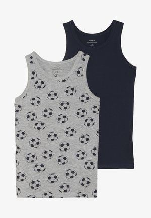 NKMTANK FOOTBALL 2 PACK - Maglietta intima - grey melange