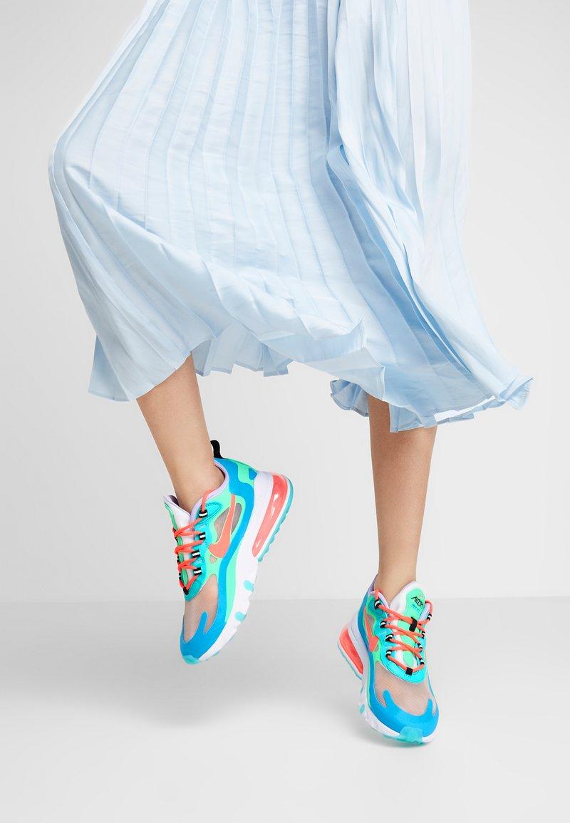 Nike Sportswear - AIR MAX 270 REACT - Trainers - electro green/flash crimson/blue lagoon/hyper jade/lavender mist/sunset pulse